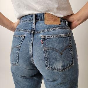 Vintage 90s Levi 550 High Rise Waist Grunge Mom Jeans